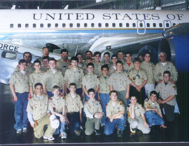 Troop 40 Feb 2000 at the US Air Force Museum