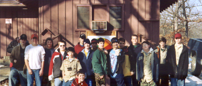 Cabin Campout, BSA Camp Lowden, February 22, 2004.  Photo by Ken Gallagher.