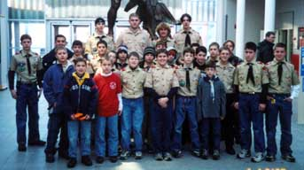 January 2003 Air Force Museum Scouts.  Photo by Ken Gallagher