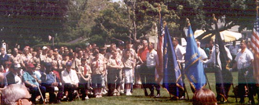 Memorial Day Service, Yorkville Il, June 2003.  Photo by Ken Gallagher.