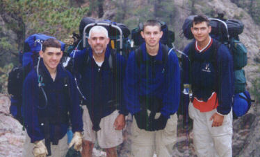 Philmont 2000 on the trail to Fish Camp