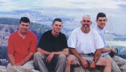Philmont 2000 at the top of The Tooth Of Time